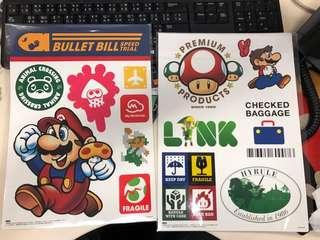 Nintendo 旅行箱貼紙 1set 兩張