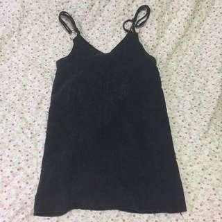 Navy Corduroy Slip Dress