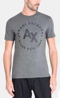 A/X Armani Exchange  Men's Circle Logo Crew Neck Tee TShirt