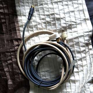 TV Cable + extension cable