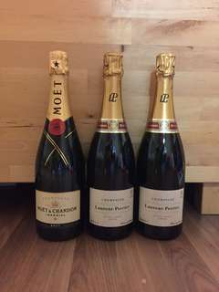 Moet x 1, Laurent-Perrier x 2