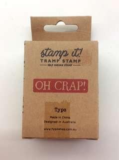 "Typo ""OH CRAP"" BNIP Stamp"