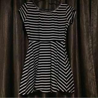 COTTON ON STRIPED DRESS Black&White