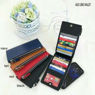 ALEX LONG WALLET FAUX LEATHER CARDHOLDER PHONEHOLDER FREE SHIPPING 3 PCS AND UP