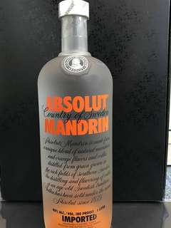 Absolute Vodka Mandarin Flavor 1Lt