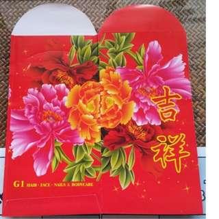 6 pcs G1 Beauty Salon Red Packet / Ang Bao Pao Pow Pau
