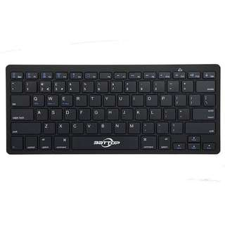 BATTOP Ultra Slim Wireless Bluetooth Keyboard for IOS IPAD Mac Android & Windows Devices