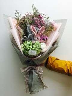 兔子發光乾花束