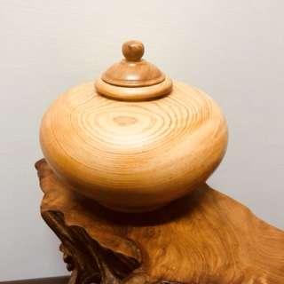 台灣手作檜木聚寶盆 (阿里山)超重油重香
