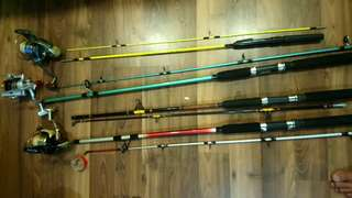 Fishing rod n motor ,$30 each