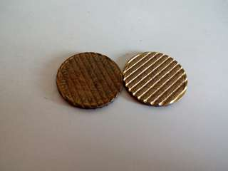 2 pcs Germany Waffled Cancelled Die Coin Free post
