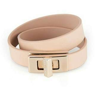 Hugo Boss Plain BOSS Bespoke bracelet in leather Light Beige