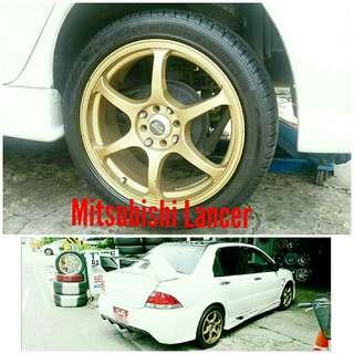Tyre 215/45 R17 Membat on Mitsubishi Lancer 🐕 Super Offer 🙋♂️