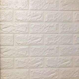 [現貨 In stock]自貼防水防撞背景牆3D 立體磚紋牆紙