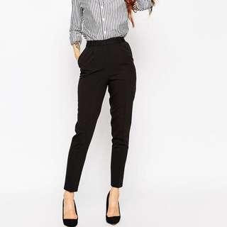 Black Highwaist Work Pants