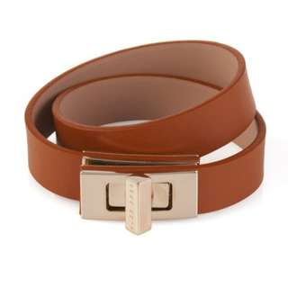 Hugo Boss Plain BOSS Bespoke bracelet in leather Brown