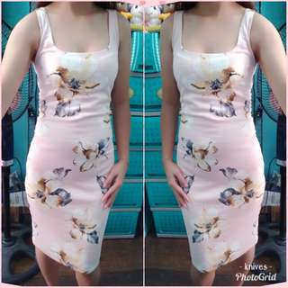 Old Rose Floral Bodycon