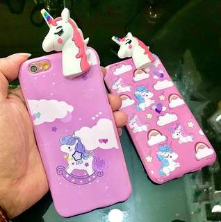 Softcase 3D Peeking little unicorn