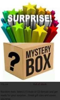 Mystery soft toy box