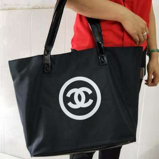 全新會員禮品 VIP GIFT Chanel 尼龍+漆皮 Shopping Tote Bag 超大Size