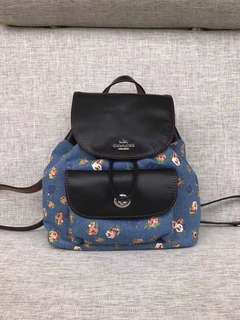Coach Billie Backpack in printed Denim