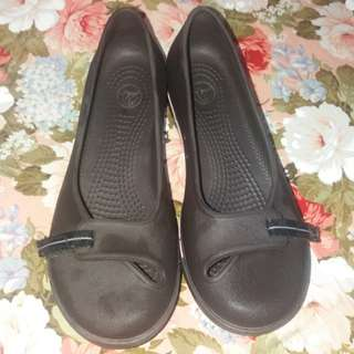Original Crocs dark brown shoes