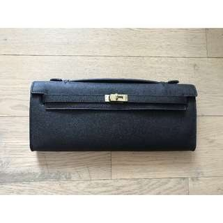 Hermès Kelly Cut clutch in black / Hermes