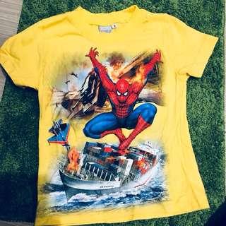 蜘蛛人Spider-Man 短袖T-shirt (黃色)(18-24男童合適)