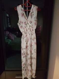 Long flower romper