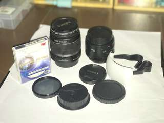 Paket Lensa for Canon EFS 18-55mm & EF 50mm