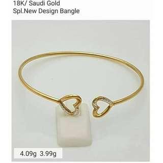 18K SPL SAUDI GOLD BANGLE (open for lay-away) ....