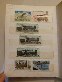 火車 動植物 郵票