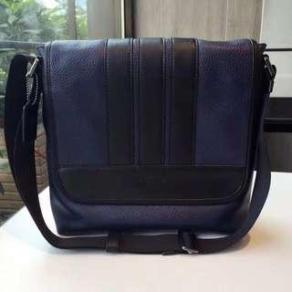 Coach men's bond small messenger leather bag