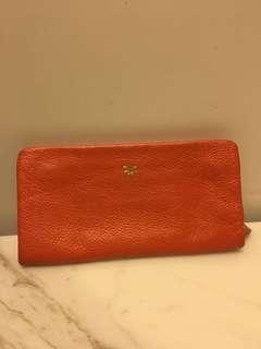 Genuine Leather orange wallet
