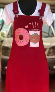 Wholesale & Retail Printed Jumper Dress (red)