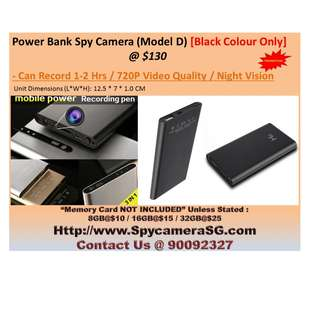 Spy Camera Battery Bank HD