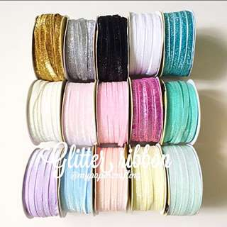 Glitter ribbons