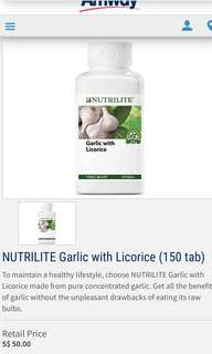 Amway Nutrilite Garlic with Licorice