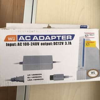 Wii wii adapter power new