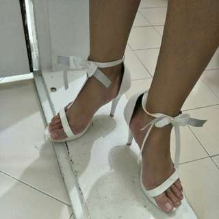 New Ladies White High Heel Shoes