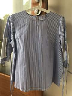 COTTONINK Stripe Blouse Size M