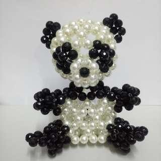 熊貓串珠擺設