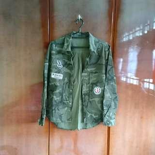 Army Green Shirt Jacket