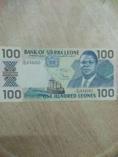 Sierra Leone 100 leones 1990 issue