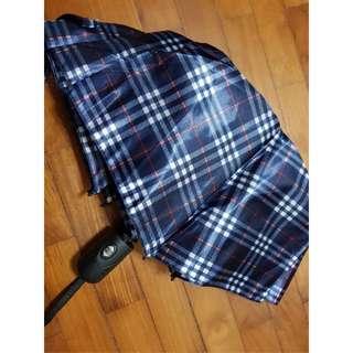 Dark Blue Printed Umbrella