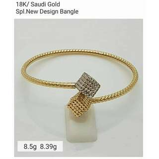 18K SPL SAUDI GOLD BANGLE (open for lay-away) ,