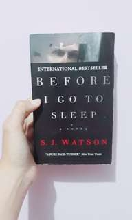 Before I Go To Sleep by S. J Watson