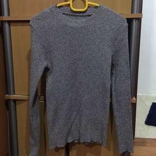 Grey Wool Top