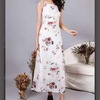 Rosa Lattice Maxi Dress