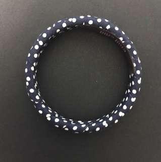 BN navy blue white polka dot retro bangle